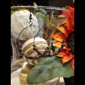 🆕️Bohemian Inspired Beaded Hoop Earrings